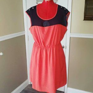 Forever 21 Plus Size  Red and blue Sun Dress